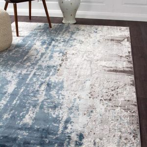 Apsley Blue Modern Rug | Blue & Grey - PREORDER FOR MID MARCH 2021