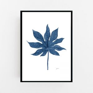 Aralia Living in Navy Blue Wall Art Print   by Pick a Pear   Canvas