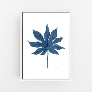 Aralia Living Wall Art in Navy Blue by Pick a Pear | Canvas Wall Art