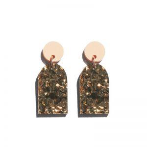 Arc Earrings | Bronze by Martha Jean