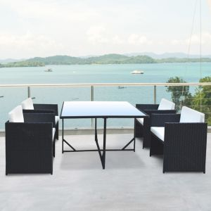 Arcadia Furniture 5 Piece Dining Table Set | Black and Grey