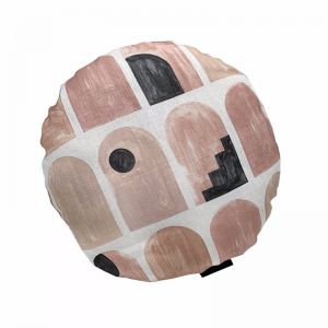 Arches Round Cushion | Clay
