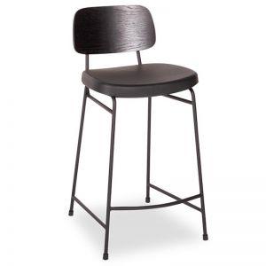 Archie Stool | Black Frame | Black Seat | Black Pad