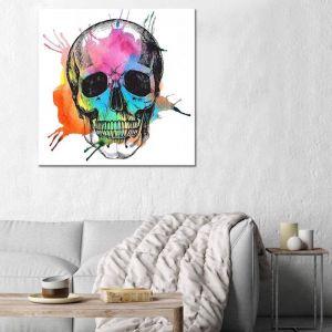 Arcobaleno Skull | Canvas Print