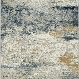 Ardennes Canyon Distressed Rug | Blue, Beige, Ivory