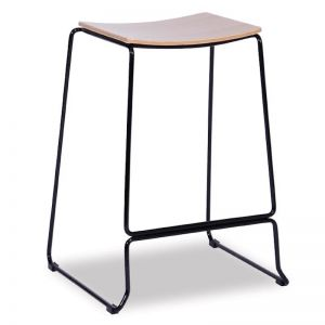 Ardent Counter Stool Black Frame with Oak Seat