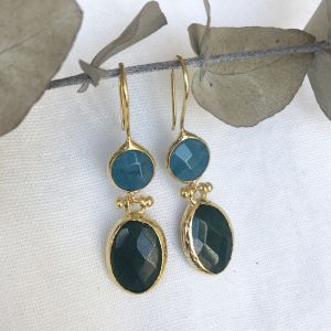 Arete Double Drop Earrings