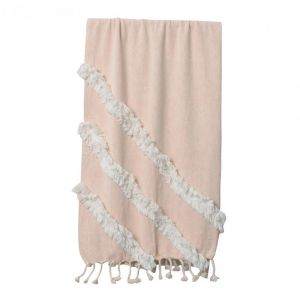 Aria Throw   Light Coral   BY SEA TRIBE