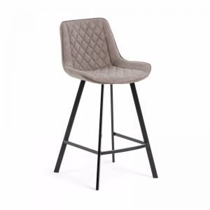 Arian Barstool in Taupe Synthetic Leather