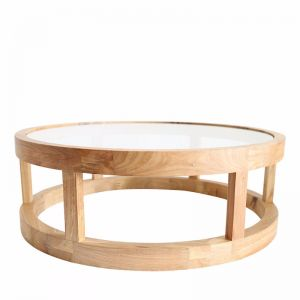 Arlo Coffee Table Elm Wood | by Black Mango