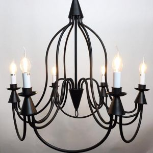 Armonk 6 Arms Chandelier | Dark Bronze Iron