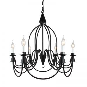 Armonk 6 Arms Chandelier | Dark Bronze Iron | Assembly Required