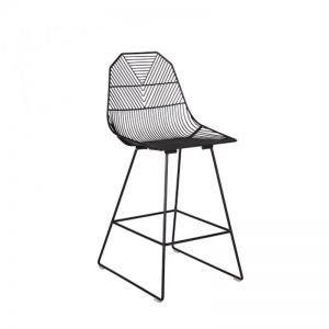 Arrow Bar Stool 65cm | Matte Black