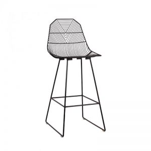 Arrow Bar Stool 75cm | Matte Black