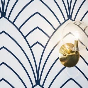 Art Deco Inspired Teal Wallpaper