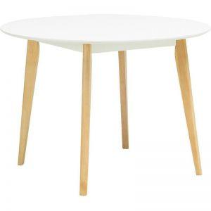 ARTHUR Round Dining Table 1.05M - White