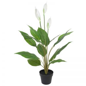 Artificial  Flowering White Peace Lily/Calla Lily   95cm