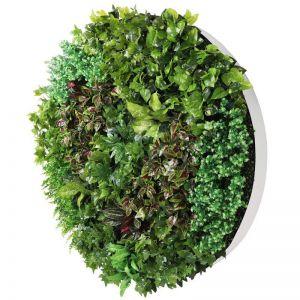 Artificial Green Wall Disc Art | 150cm Dense Green Sensation | Fresh White