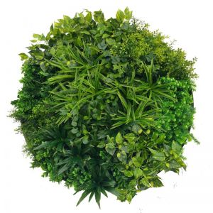 Artificial Green Wall Disk Art | 100cm Dark Aloe Vera