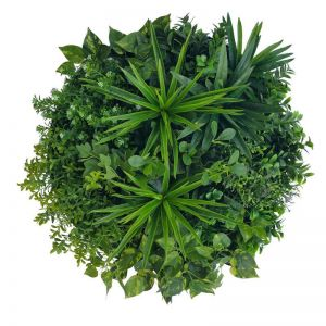 Artificial Green Wall Disk Art | 60cm Philodendron