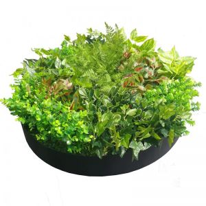 Artificial Green Wall Disk Art | 80cm Mixed Fern