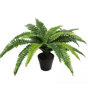 Artificial Potted Natural Green Boston Fern