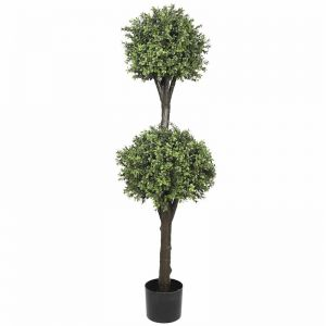 Artificial Topiary Tree | 2 Ball Faux Shrub | High UV Resistant