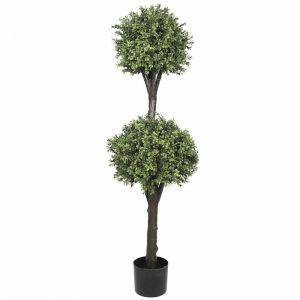 Artificial Topiary Tree | 2 Ball Faux Shrub | High UV Resistant