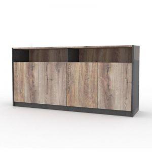 Arto Credenza Cabinet Large 1.57M | Mahogany