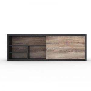 Arto Display Unit 2.4M | Mahogany Black