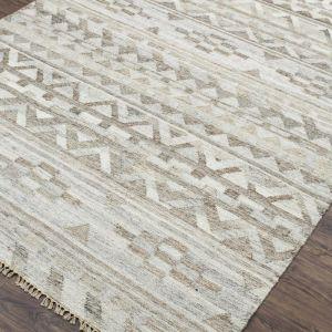Ash Wood   Hand Woven Flat Weave Rug