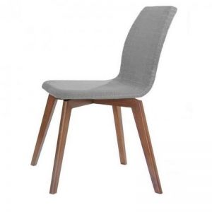 Asha Dining Chair | Walnut + Grey | Modern Furniture
