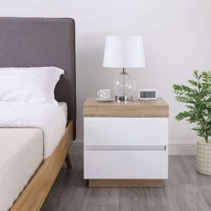Ashley Coastal White Wooden Bedside Table
