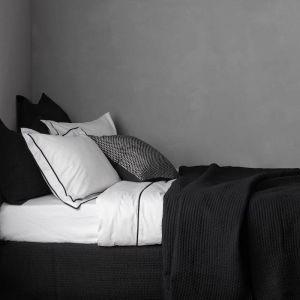 Aspen Black Quilted Pillowcase | European