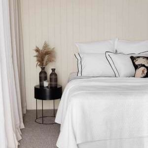 Aspen White Quilt | Queen Bed