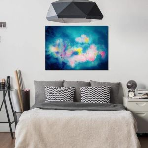 Aspire In Blue | Canvas Print| by United Interiors