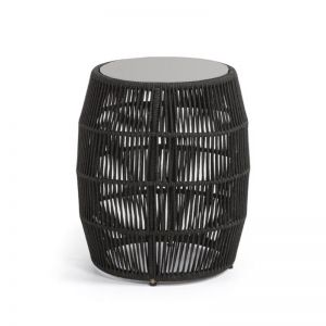 Asterick Patio Side Table | Charcoal | CLU Living