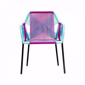 Astro Outdoor Chair | Aqua Blue and White by SATARA