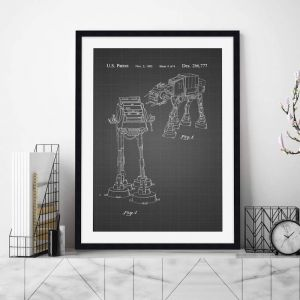AT-AT Walker Patent Blueprint | Unframed Art Print