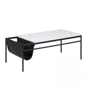 Atalaya Marble Coffee Table | 115cm | White & Black
