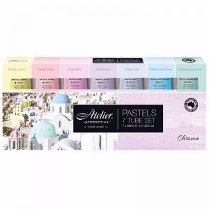 Atelier Interactive Acrylic Paint Set | 7 x 80ml Tubes | Pastel Colours