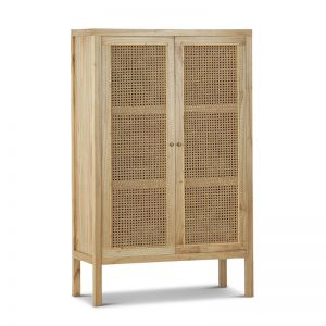 Atlanta Rattan & Mindi Wood Cabinet | Natural