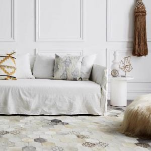 Atomo Rug by Art Hide | Cream Mix