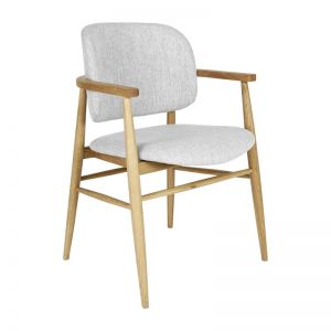Aura Fabric Dining Chair | Oak