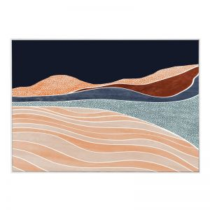 Aura Landscape  | Framed Canvas Print