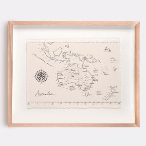 Australia Map Illustration | Print by Adrianne Design