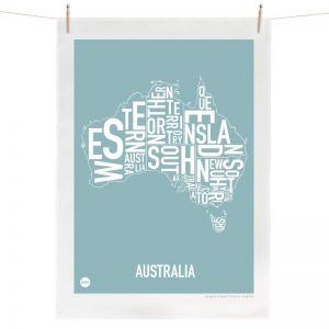 Australia Map | Tea Towel by Burbia