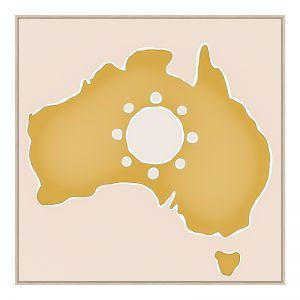 Australian Sunshine | 50cm x 50cm Oak Framed Canvas