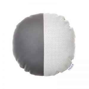 Ava Leather Cushion | Grey | by Klovah