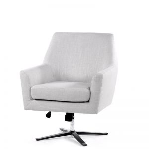 Ava Swivel Chair | Taupe | by Black Mango
